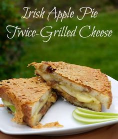 Irish Apple Pie Twice-Grilled Cheese - The winning sandwich in Franz Grilled Cheese Contest  | The Good Hearted Woman