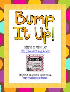 """This bulletin board set can be used to help students understand what assessment criteria is being used on a 1-4 grading scale and to give them some strategies to improve their work and """"Bump Up"""" their performance. This set includes the following headings: Bump It Up!"""