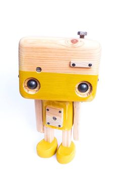 Reclaimed wood the little mustard robot