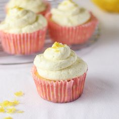 These Lemon Cupcakes with Whipped Buttercream will taste like a sweet, cloudy dream! Lemon zest is added for garnish and adds a delicious pop of flavour to these cupcakes!