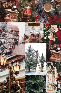 Are you looking for inspiration for christmas inspiration?Browse around this website for unique Christmas inspiration.May the season bring you happy memories. Christmas Collage, Cosy Christmas, Christmas Time Is Here, Merry Little Christmas, 12 Days Of Christmas, Christmas Holidays, Christmas Wreaths, Christmas Decorations, Christmas Feeling