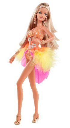 Barbie Collector Dancing with The Stars Samba Barbie Doll by Mattel. $30.00. Dressed as a contestant assigned one of the show's most fiery dances - the Brazilian Samba. Perfect for Barbie collectors and Dancing with the Stars fans alike. In an orange two-piece costume helps to convey that message of the Samba. Inspired by the iconic dances from one of the hottest shows on television, Dancing with the Stars. Barbie doll is ready to dance the dance of Carnival. Fro...