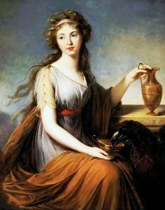 Anna Pitt as Hebe by Louise Elisabeth Vigee le Brun - 1792.