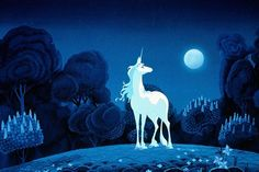 The Last Unicorn...I would watch this movie over and over as a child.