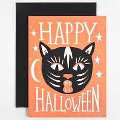 Message: HAPPY HALLOWEEN, blank inside Card: 4.25 x 5.5 inches, printed full…