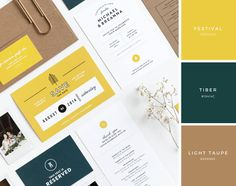Creative Wedding, Invites, Michael, Breanna, and Design image ideas & inspiration on Designspiration Colour Pallete, Colour Schemes, Color Patterns, Color Palettes, Color Harmony, Color Balance, Wedding Color Combinations, Bussiness Card, Mood And Tone