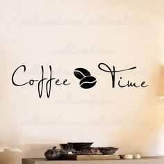 Coffee Time Wall Decal Kitchen Sticker
