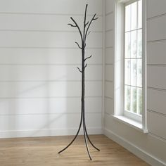 Twig Standing Coat Rack - Crate and Barrel Tree Coat Rack, Coat Tree, Coat Racks, Hat And Coat Stand, Coat Stands, Rustic Coat Rack, Standing Coat Rack, Wall Mounted Coat Rack, Hallway Decorating