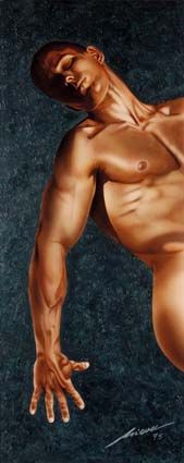 Male nude | #airbrush #painting