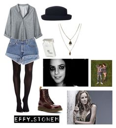 """""""Effy Stonem"""" by beccajoycee ❤ liked on Polyvore featuring Helmut by Helmut Lang, Topshop, SPANX, Dr. Martens, Effy Jewelry, Dunhill and Jamie Jewellery"""