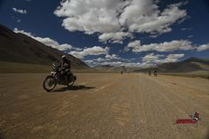 "A dream of every rider ""The Highest Motor-able road in the world. Himalayan fantasy on moto, take your #headabovetheclouds"