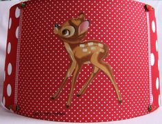 hangende kap bambi polka dot rood