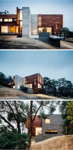 Moloney Architects have designed the Invermay House, a home for a family located in a rural area just outside of Ballarat, Australia.