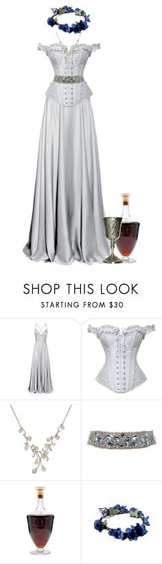 """""""Game of Thrones Lyanna Stark"""" by werewolf-gurl ❤ liked on Polyvore featuring Azzaro, Daisy Corsets, Miss Selfridge, Baccarat and plus size clothing"""