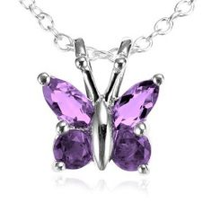 for me 5 Sterling Silver Amethyst Butterfly Pendant 18 The Purple, The Violet, Shades Of Purple, Purple Jewelry, Butterfly Jewelry, Butterfly Pendant, Butterfly Necklace, Purple Necklace, Purple Accessories