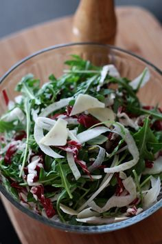 Shaved Fennel and Arugula Salad   AggiesKitchen.com #salad #healthy #summer
