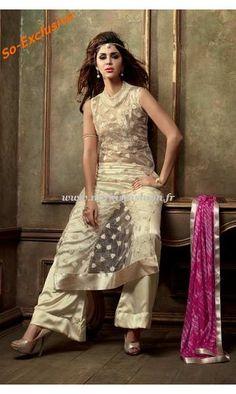 Lagan Designer beige salwar robe moderne pantalon desi de Narkis Fashion pour seulement 145€