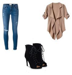 """Sin título #7"" by karlaroman-i on Polyvore featuring Frame Denim y JustFab"