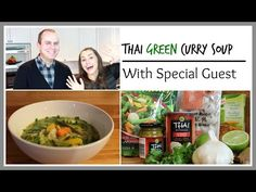 Thai Coconut Soup + EXCITING NEWS!!! | Silvie Smiles - YouTube Thai Coconut Soup, Curry Soup, Green Curry, Exciting News, Special Guest, Chicken, Food, Meals