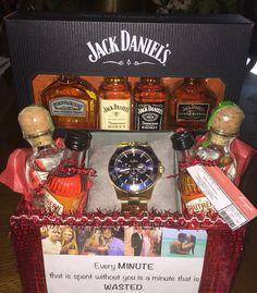 DIY birthday gift for boyfriend! #birthday #watch #alcohol #time #wasted