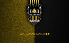 Download wallpapers Wellington Phoenix FC, 4K, New Zealand Football Club, logo, emblem, ISPS Handa Premiership, leather texture, Wellington, New Zealand, NZFC, OFC, Oceania
