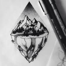 Risultati immagini per geometric forest tattoo