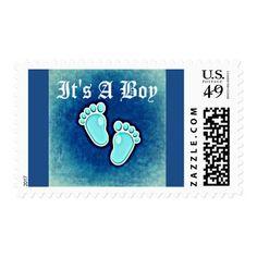It's a boy baby shower mother child nursery stamp