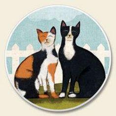 Cat Coasters, Decorative Plates, Cats, Tableware, Home Decor, Gatos, Dinnerware, Decoration Home, Kitty Cats