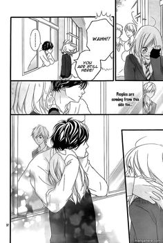 Ao Haru Ride Manga Page Awww to cute Anime Art Girl, Manga Art, Manga Anime, Strobe Edge Manga, Futaba Y Kou, Ao Haru, Blue Springs Ride, Manga Story, Ride 2