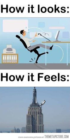 Almost falling from a chair