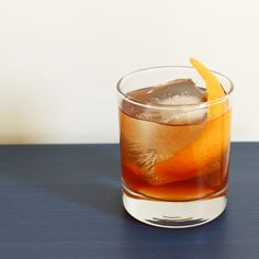 French Connection  ounce of Lillet Blanc ounce of Cognac dash of Angostura bitters dash of orange bitters quarter-ounce of honey syrup garnish with an orange peel