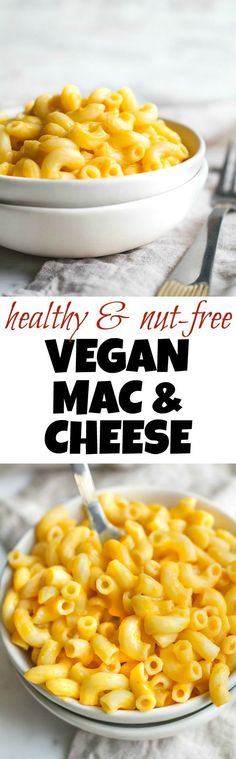 A vegan mac & cheese thats smooth creamy nut-free and made with simple healthy ingredients! The versatile cheesy sau