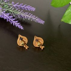 Gold finished small ruby stud Earrings / Statement earrings / Peacock Earrings/ Bollywood celebrity earring/ stud earrings Statement Earrings, Stud Earrings, Peacock Earrings, Bollywood Celebrities, Brooch, Gold, Celebrity, Jewelry, Jewlery