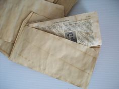10 coffee stained envelopes for crafts . hand dyed by GTDesigns