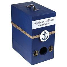 Sinellin valikoimissa on viinilaatikkoboxeja, joita voit maalata ja koristella mieleisiksesi.
