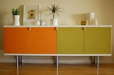 Ikea Bonde Credenza hack! Great idea since I can't find a mid-century sideboard anywhere around me . . .