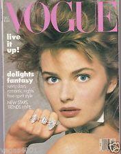 VOGUE MAGAZINE DECEMBER 1986 PAULINA PORIZKOVA COVER