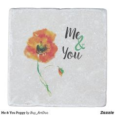 Shop Me & You Poppy Stone Coaster created by Buy_ArtDuo. Red Poppies, Red Flowers, Stone Coasters, Birthday Love, Kitchen Collection, Drink Coasters, Paper Napkins, Romantic Weddings, Little Red