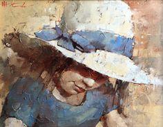 Galleries in Carmel and Palm Desert California - Jones & Terwilliger Galleries -Andre kohn Blue ribbon Art Folder, Paintings I Love, Art For Art Sake, Beach Art, Figure Painting, Art Oil, American Art, Female Art, Creative Art