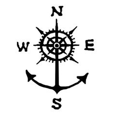 Simple Anchor Tattoo, Anchor Tattoo Design, Compass Tattoo Design, Anchor Tattoos, Wrist Tattoos, Body Art Tattoos, New Tattoos, Sleeve Tattoos, Tattoos For Guys