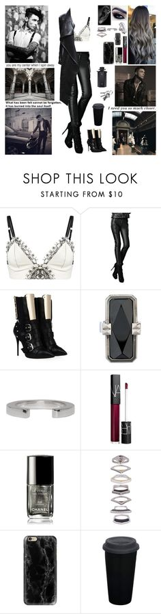 """""""✘ And now your song is on repeat And I'm dancin' on to your heartbeat And when you're gone, I feel incomplete So if you want the truth  I just wanna be part of your symphony Will you hold me tight and not let go? ✘"""" by blueknight ❤ liked on Polyvore featuring Loveday London, Giuseppe Zanotti, LowLuv, Altruis by Vinaya, Maison Margiela, NARS Cosmetics, Chanel, Eddie Borgo, Casetify and Gucci"""
