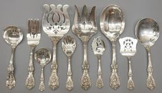 """""""Francis I"""" Serving Set (Reed & Barton) Vintage Silver, Antique Silver, Western Kitchen Decor, Francis I, Antique Dishes, Reed & Barton, Silver Chain Necklace, Decoration, Sterling Silver Rings"""