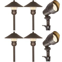 Hykolity 6 Pack Bronze Low Voltage Led Landscape Kits 12v Pathway Flood Light Kits 10w 39 Outdoor Light Fixtures Diy Outdoor Lighting Outdoor Lighting Design