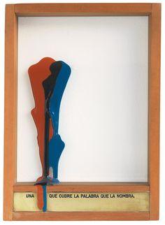 Una que cubre la palabra que la nombra - Luis Camnitzer - 1976