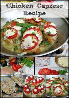 Chicken Caprese Recipe collage