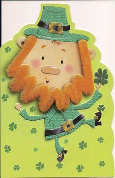 Leprechaun St. Patrick's Day card.