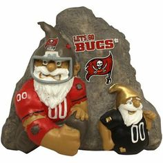 Tampa Bay Buccaneers Gnome Football Rivalry Garden Stone