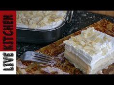 Καλοκαιρινό Εκμέκ ψυγείου - Delicious Summer Dessert (Ekmek) - YouTube Greek Desserts, Summer Desserts, Greek Recipes, Cookbook Recipes, Cooking Recipes, Biscotti Recipe, Kitchen Living, Lemon, Cake