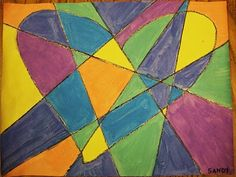 Another Jim Dine Heart Project!   Glue and Chalk Pastel on Dark Paper