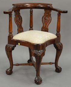 Mahogany Chippendale Style Corner Chair